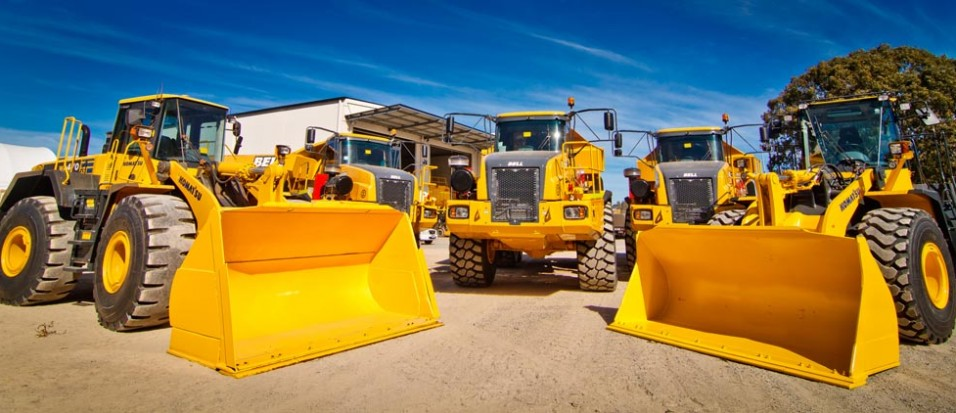 Construction equipment rental business in South Africa