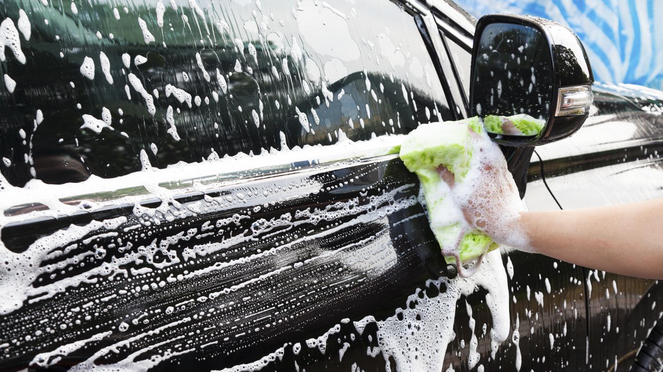 Beautiful car wash in New York